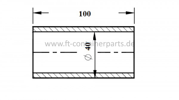 Spare pipe for flat rack hammer