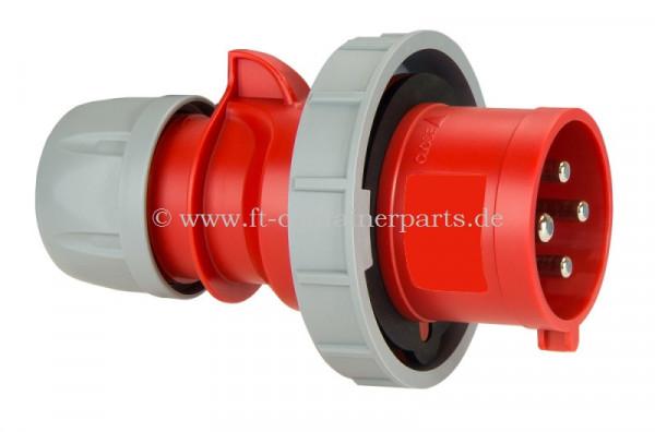 CEE Reefer Plug 32A,4 P, 3 h, 400 V