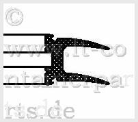 Tür-Profil-Gummidichtung á 2,5 mtr
