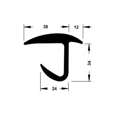 """Door Gasket """"J"""" type"""