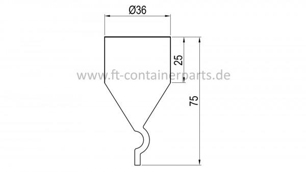 Kazoo water pipe, dia 32 mm