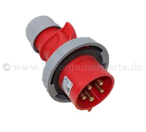 CEE Plug 32 A, 5P, 6h, 400 V, IP 67