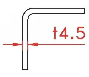 Angle profile 4,5x120x50x2400, corten