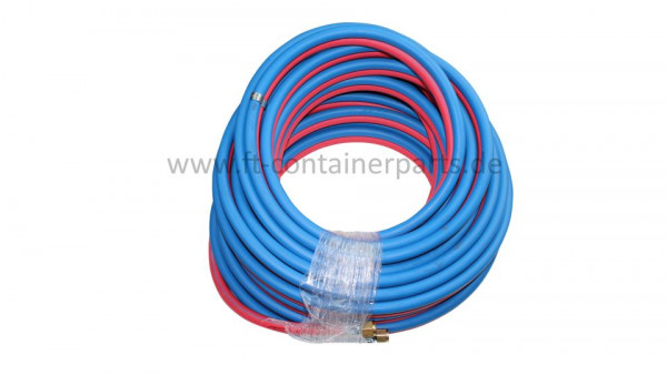 Twin hose 6x9 / 20 mtr incl. fittings
