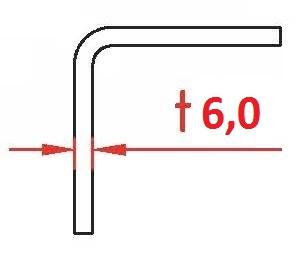 Angle Profile 6,0x50x30x2400, corten