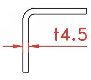 Angle Profile 4,5x120x60x2400