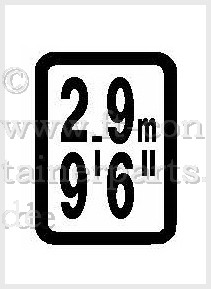 Decal high label 2,9 / 9.6 yellow/black