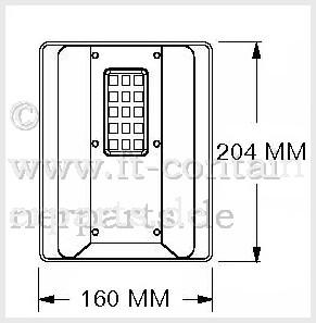Lüfterkasten Ventilation Cover PVC - Tiphook