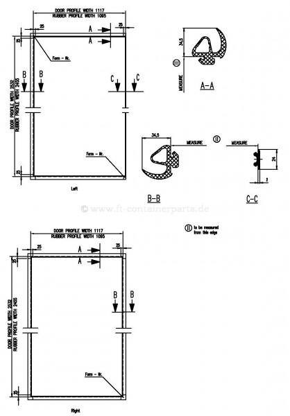 Tür-Profil-Gummidichtung-Rahmen HC