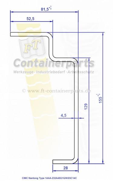 Boden-Längsträger,BottomSideRail,Spezial,Nantong