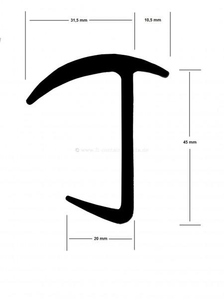 Tür-Profil-Gummidichtung M 13355 á 40 mtr