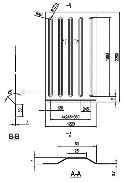 Side Lining 0,7x1220x2250 mm