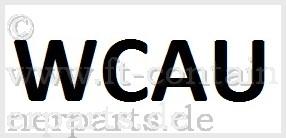 Decal Prefix WCAU, black on white