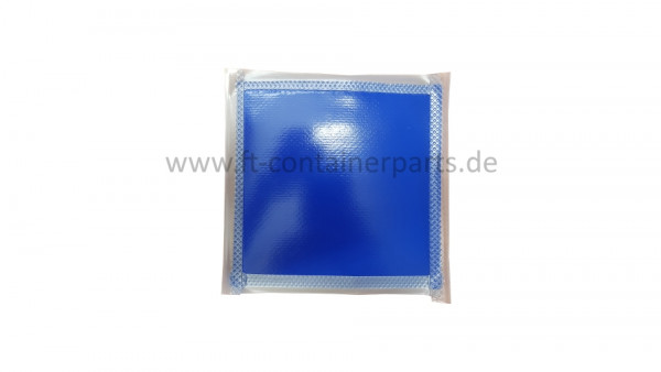 Tarpaulin patches blue