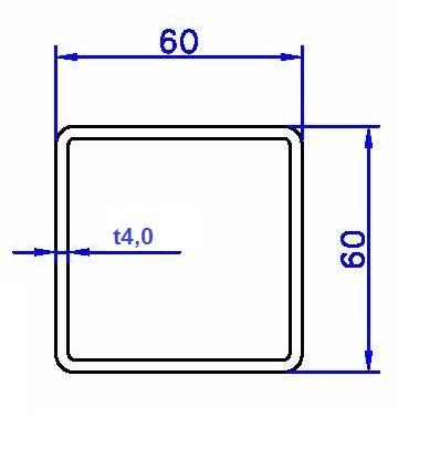 Quadratrohr schwarz