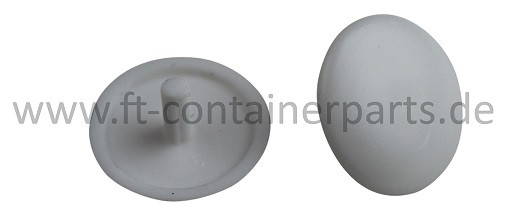 Covering cap for screw, white