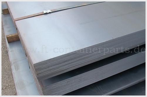 Stahlblech Corten grau geprimert