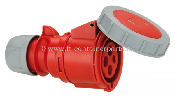 CEE Reefer Connector 32A, 4P, 3h, 380V, IP 7
