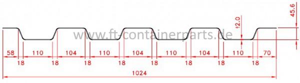 Front/End Panel Corr, 2,0x1024x2700 HC