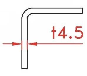 Angle profile, 4,5x50x30x2400