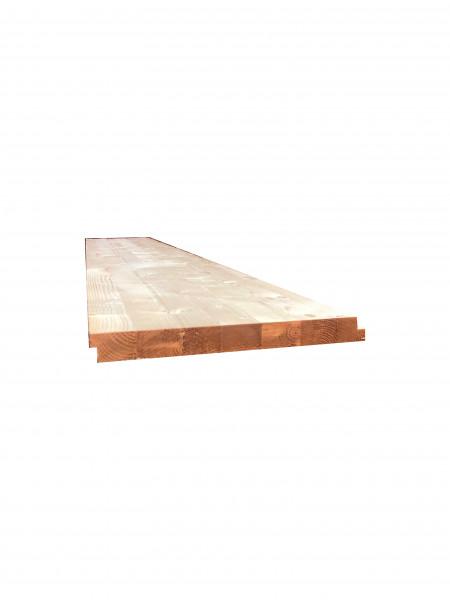 Weichholzdiele laminiert mit Wechselfalz
