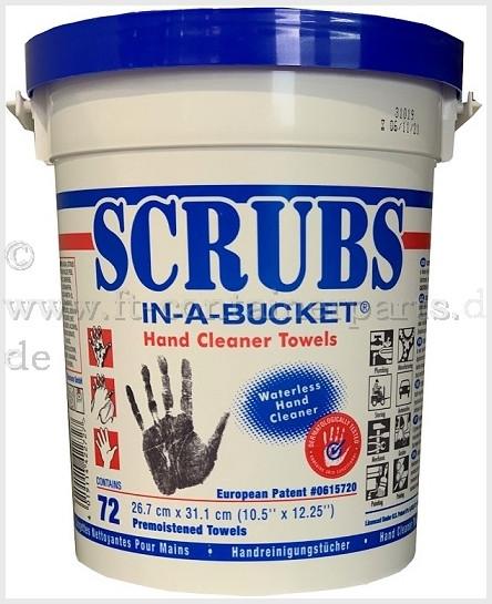 Scrubs Reinigungstücher Eimer á 72 Blatt
