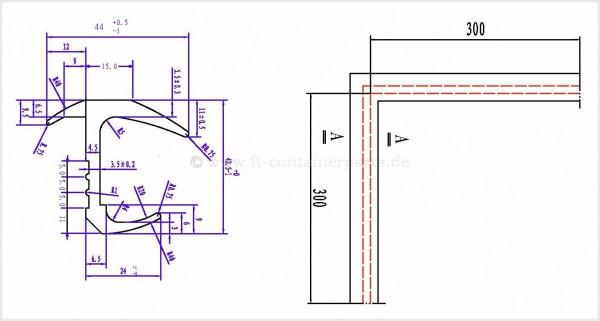 Tür-Profil-Gummidichtung Repa-Ecke