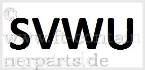 Decal Prefix SVWU, black on white, horizontal