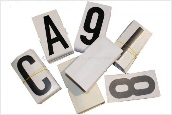 "Number Decal ""9"", white, 100 mm"