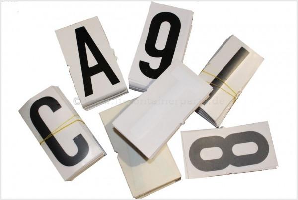 "Number Decal ""6"", black, 100 mm"