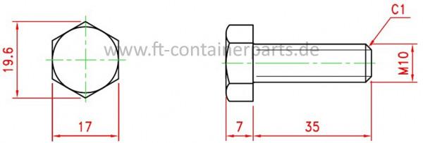 Sechskantschraube DIN 933 verzinkt 8.8
