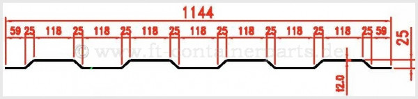 Roof Panel Patch 2,0x1144x2359,