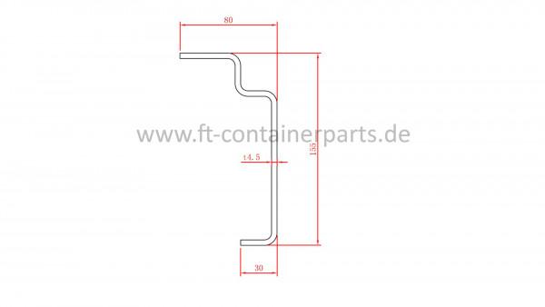 Bottom Side Rail, 4,5x50x155x30x2400