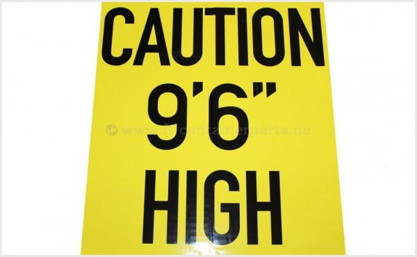 Warnaufkleber High Label Folie 8.6' gelb/schwarz