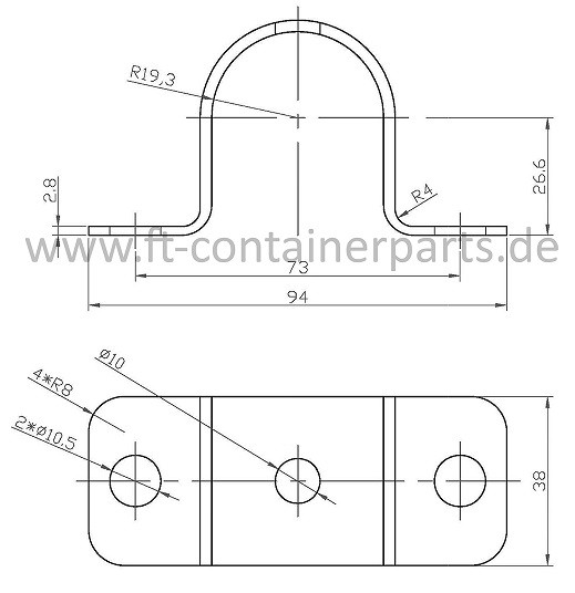 Bearing bracket Outer Small