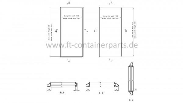 Tür-Profil-Gummidichtung-Rahmen Reefer, links